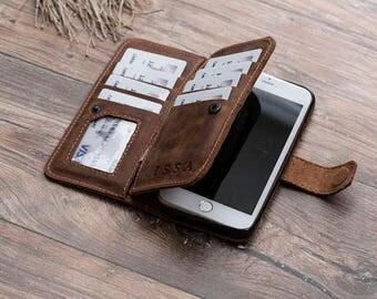 Leather iPhone 7 Plus Wallet Case, iPhone 7 Plus Case, iPhone 7 Plus Leather Wallet Case, iPhone 7 Plus Leather Case, 7 Plus, #PAKHET PLUS