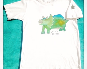 Triceratops with turtle