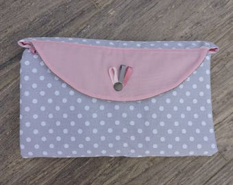 Réversibles foldable pink gray (made to order)