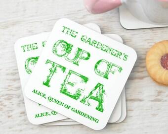 Personalised Gardener's Coasters