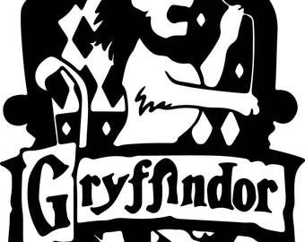 Harry Potter Gryffindor Svg Files Silhouettes Dxf Files Cutting files Cricut Silhouette