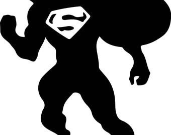 Superman Svg Files Silhouettes Dxf Files Cutting files Cricut Silhouette