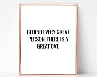 Printable Art, Cat Quote, Home Decor, Cat Print, Cat Wall Art, Cat Lover Gift, Office Wall Art, Cat Lady Gift, Typography Print, Cat Poster