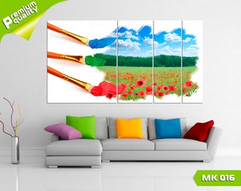 Painting and nature, Modular painting for Home & Office Decoration, Canvas print wall art, Poster home décor, Multi panel canvas print