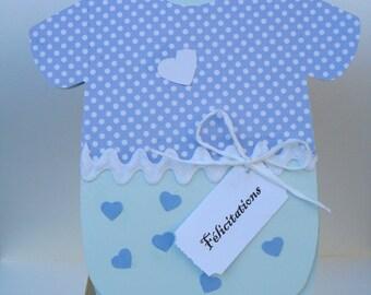 "CARD BODY ""Congratulations"" baby - hand made (6)"