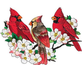 Cardinals In DogWood Tree Cross Stitch Pattern***LOOK***