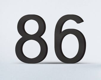 Flat Cut Acrylic House Numbers-Deuce
