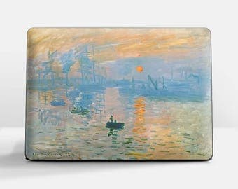 "Laptop skin (Custom size). Claude Monet, ""Impression Sunrise"". Laptop cover, HP, Lenovo, Dell, Sony, Asus, Samsung etc."