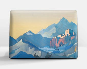 """Laptop skin (Custom size). Nicholas Roerich, """"Stronghold of the Spirit"""". Laptop cover, HP, Lenovo, Dell, Sony, Asus, Samsung etc."""