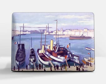 """Laptop skin (Custom size). Albert Marquet, """"The Old Port..."""".  Laptop cover, HP, Lenovo, Dell, Sony, Asus, Samsung etc."""