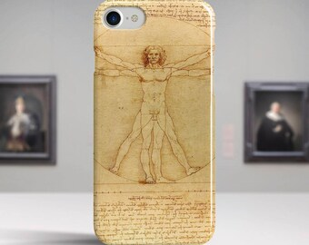 "Leonardo Da Vinci, ""The Vitruvian Man"". iPhone 6 Case Art iPhone 7 Case iPhone 8 Plus Case and more. iPhone 6 TOUGH cases. Art iphone cases."