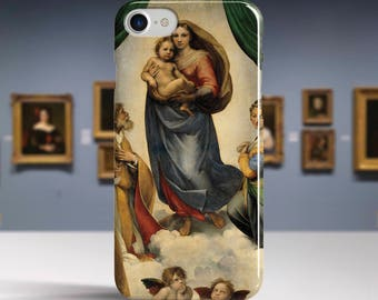 "Raphael, ""Sistine Madonna"". iPhone 8 Case Art iPhone 7 Case iPhone 6 Plus Case and more. iPhone 8 TOUGH cases. Art iphone cases."