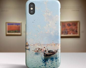 "F. R. Unterberger, ""Saint Marks Square, Venice"". iPhone X Case Art iPhone 8 Case iPhone 7 Plus Case and more. iPhone X TOUGH cases."