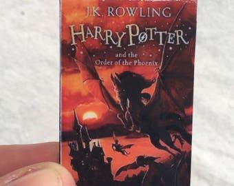 Book Brooch, Miniature Book Brooch, Harry Potter, Order of the Phoenix