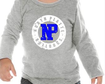 Norton Platte Bulldogs Distressed T-Shirt / Youth T-Shirt / Toddler T-Shirt / Infant T-Shirt / School Spirit Apparel / Custom T-Shirt / Kids