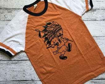Indian Joe T-Shirt / Mascot T-Shirt / Larned Indians T-Shirt / Gift For Her / Gifts For Him / Christmas Gift / School Spirit Apparel /Tee
