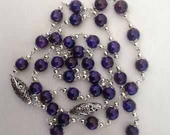 Long purple necklace flapper necklace long necklace beaded necklace fashion necklace handmade necklace long necklace