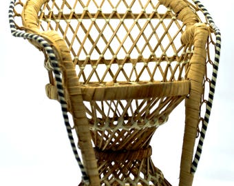 wicker mini chair
