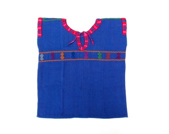 baby clothes / mexican girl blouse embroidery made with loom