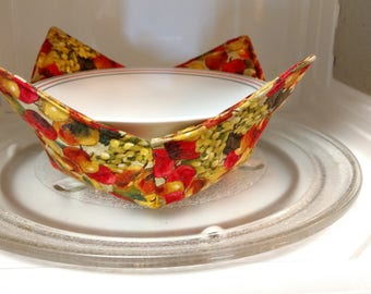 Microwave Bowl Cozy, Soup Bowl Cozy, Soup Bowl Hot Pad, Ice Cream Bowl Cozy, Wedding Gift, Bridal Shower Gift, Housewarming Gift,