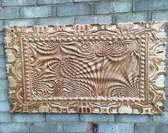 Ripples in wood, 3D, relief, picture, art, unusual, unique, frame, different, wall panel,exotic,strange,weird,tactile