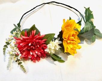 Flower Crown for Festivals Floral Headpiece