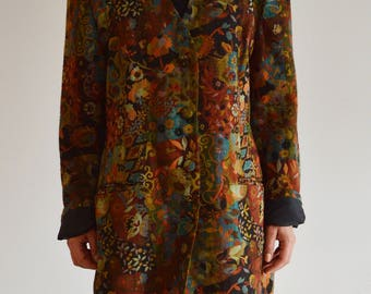 Women's patterned jacket blazer Vintage oryginal Made in Norway