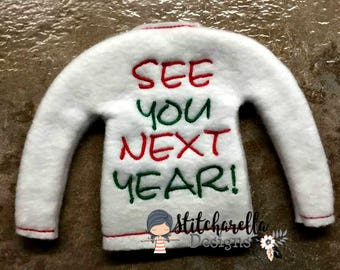 See You Next Year Elf on Shelf Sweater