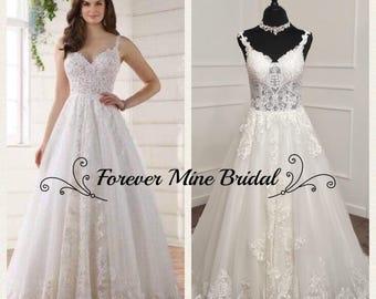 Verushka Dress Romantic Wedding Dress With Lace Train
