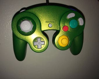 Green and Gold Original Controller for Gamecube