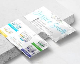 Rodan and Fields Business Card // Rodan + Fields Business Card // R+F Business Card // Marble Business Card // 20% OFF