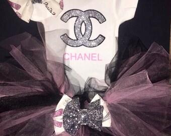Chanel Inspired Tutu Set