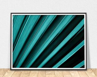 Palm Leaf Print - Printable Poster, Tropical Print, Modern Wall Art, Palm Leaves Print, Leaf Wall Art, Botanical Print, Printable Wall Art