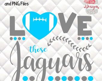 Love those Jaguars - Tailgating, Gameday - SVG, Silhouette studio bundle - design download