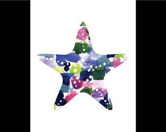 Watercolor Starfish Print
