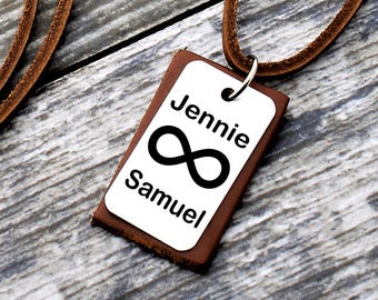 Personalized Name Necklace, Custom Necklace, Infinity Necklace, Anniversary Necklace, Personalized Gifts, Gifts for Husband, Boyfriend Gifts