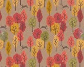 Leaping Deer, Brown, A250-2  from the Autumn in Bluebell collection designed by Lewis & Irene LTD.