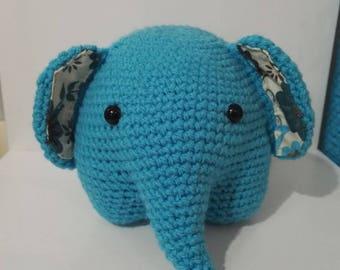 Elephant amigurumi crochet blanket crochet turquoise Turquoise