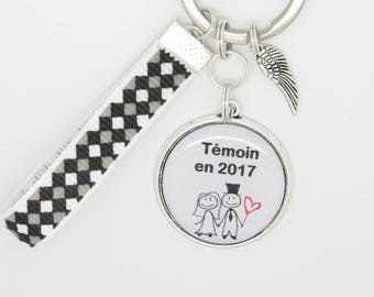 key ring personalized at a wedding, pacs... will you be my best man?