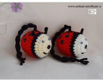 Crochet Ladybird / Ladybird Pendant / Ladybug Pendant / Ladybird Car Accessories / Ladybird Amigurumi / Ladybird Car Charms / Ladybird Charm