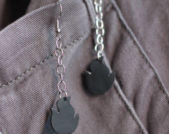 Ignation Flame Chain Earrings