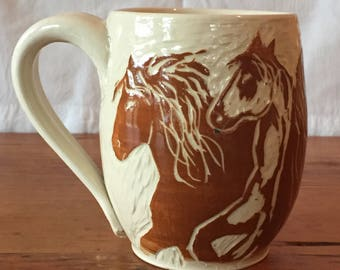 Running Horses Coffee Mug