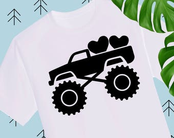 Boy Valentine SVG Valentine Truck Svg Valentines Day svg Valentine Shirts for Boys svg files for Silhouette Cameo Cricut explore svg dxf