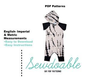 Short Sleeve Raglan Romper PDF Pattern
