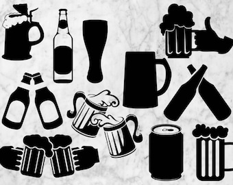 Beer Svg Clipart, Cheers vector, dfx, svg, eps & png, Beers cutfiles, Beers silhouette for cricut explore, Printable Cheers svg, png.