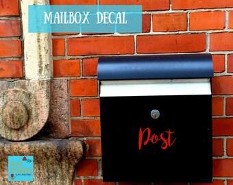 Mailbox Decal Sticker