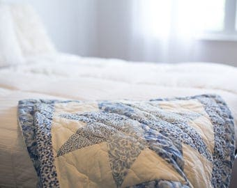Blue Quilted Sham