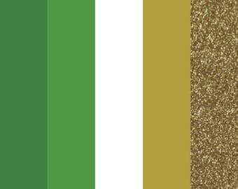 "St. Patrick's Day HTV Color Bundle (5) 12"" X 9"" Sheets, Heat Transfer Vinyl, Easy Weed, HTV, T Shirt Vinyl, Heat Press Vinyl, DIY"