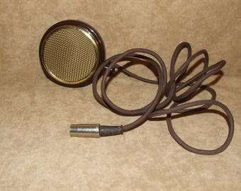 Bakelite Microphone Or Speaker With Cable Vintage Circa 1950's