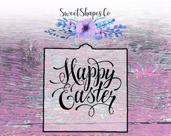 Happy Easter Cookie Stencil, Cake Stencil, or Craft Stencil